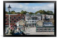 Busy On The Pier 1, Framed Print