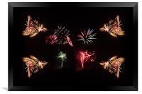 Firework Frenzy, Framed Print