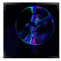 The Light Painter 13, Framed Print