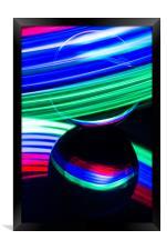 The Light Painter 17, Framed Print
