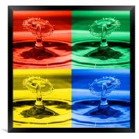 Pop Art Water Drops 2, Framed Print