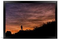 Pensive Sunset, Framed Print