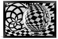 Crystal Ball Op Art 2, Framed Print