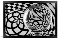 Crystal Ball Op Art 3, Framed Print