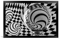 Crystal Ball Op Art 4, Framed Print