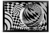 Crystal Ball Op Art 5, Framed Print