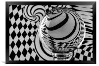 Crystal Ball Op Art 6, Framed Print