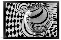 Crystal Ball Op Art 8, Framed Print