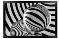 Crystal Ball Op Art 11, Framed Print