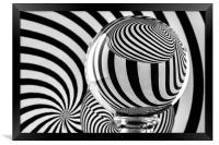 Crystal Ball Op Art 12, Framed Print
