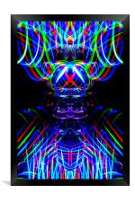 The Light Painter 53, Framed Print