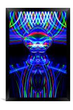 The Light Painter 54, Framed Print