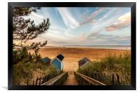 Steps to the Beach, Framed Print