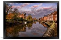Quay Side Norwich, Framed Print