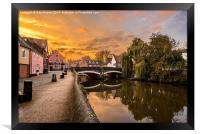 Norwich River Sunset, Framed Print