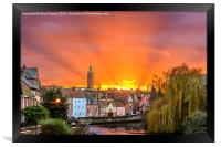 Norwich Quay Side Sunset, Framed Print
