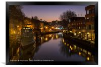 Norwich at Night, Framed Print