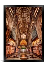 St Mary Redcliff, Bristol. The Nave & Organ., Framed Print