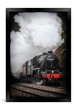 Mid Wales Steam Locomotive., Framed Print