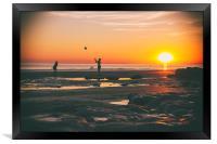 Fun in the Sun., Framed Print