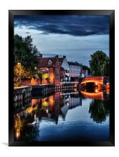 Fye Bridge, Norwich, Framed Print