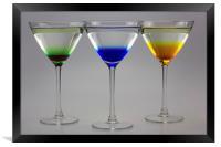Colourful Cocktails, Framed Print