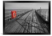 Along Whitby pier, Framed Print