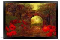 Ye olde railway bridge, Framed Print