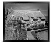 Thatched Cottage,Thornton-le-Dale, Framed Print