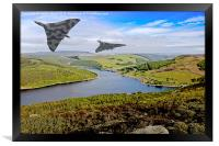 Vee Force over the Valley, Framed Print