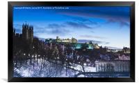 Winter comes to Edinburgh, Framed Print