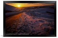 Sundown in the Hope Valley, Framed Print