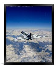 Vulcan over the Alps, Framed Print