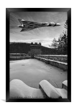 Delta Wings in the Valley, Framed Print