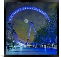 The London Eye, Framed Print