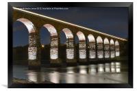 Royal Border Bridge Illuminations, Framed Print