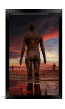 Iron Men in Another Place, Framed Print