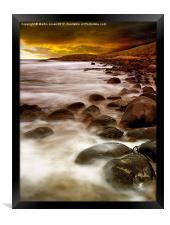 Sunrise on the Rocks, Framed Print