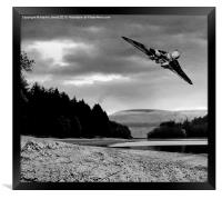 Vulcan over Derwent, Framed Print