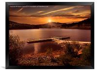 Last light over the Valley, Framed Print