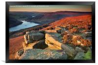 Bamford Edge Sundown, Framed Print