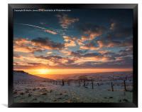 Sunset over Hope Valley, Framed Print