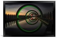Green at the Falkirk Wheel, Framed Print