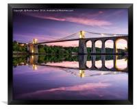 Telford's Masterpiece - Gateway to Anglesey, Framed Print