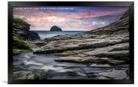 The Spectacular Rocks of Trebarwith, Framed Print