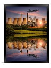 Vulcan XH558 in the Trent Valley, Framed Print