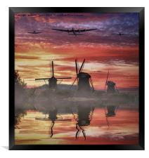 War Birds over Holland, Framed Print