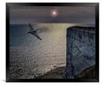 Vulcan XH558 At Beachy Head, Framed Print