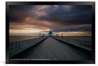 Clevedon Pier at Sunset, Framed Print