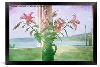Seaside Lilies , Framed Print